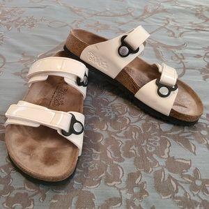 Birkis by Birkenstock Madura White Sandals